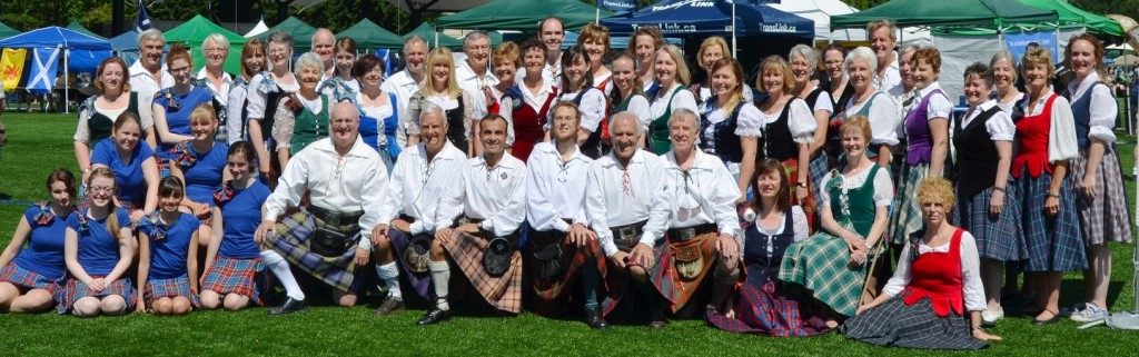 Expanded Dem Team for 2014 Highland Games celebrating Vancouver Branch 50th Anniversary Year